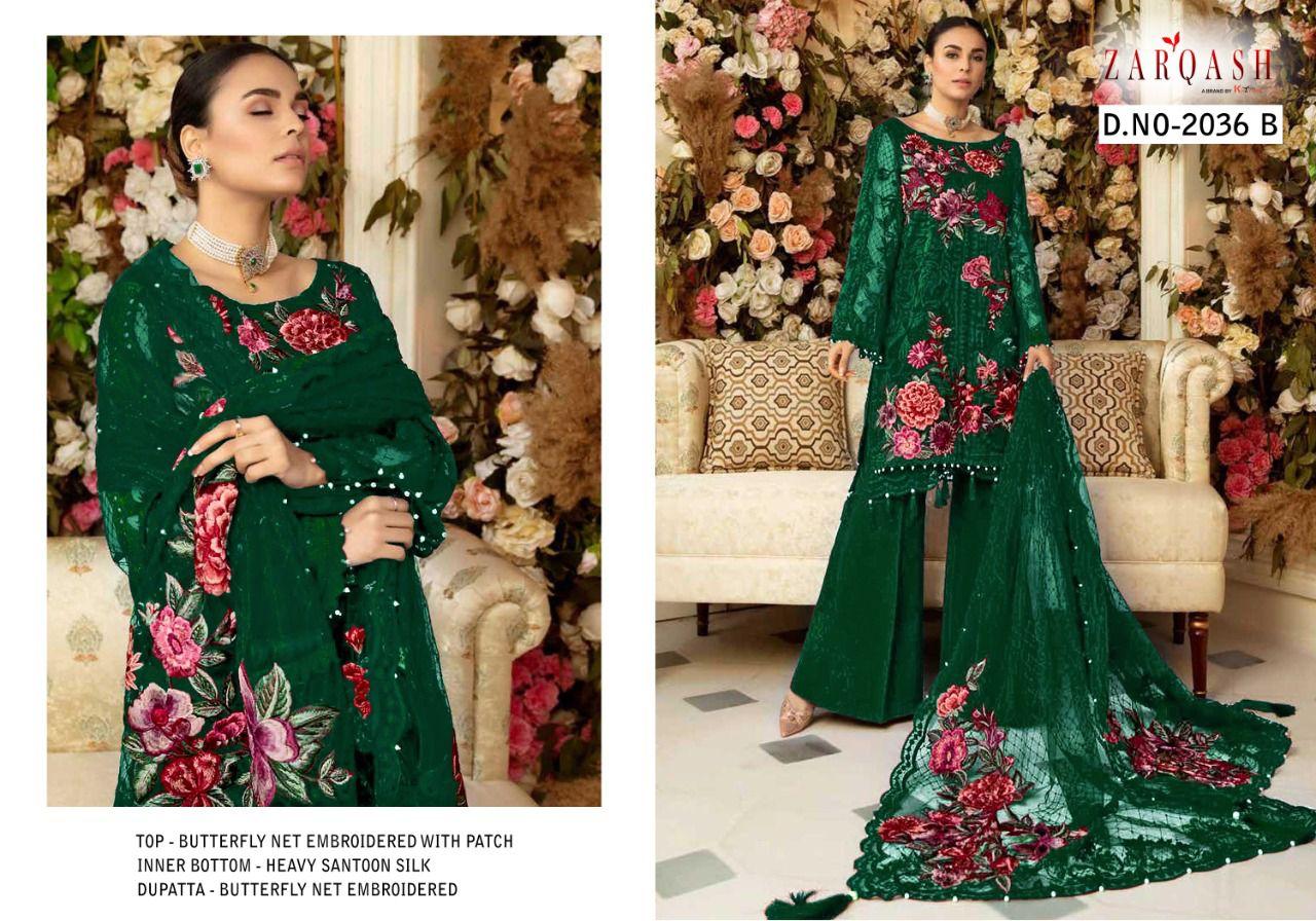 Zarqash Dn-2036 Designer Butterfly Net Suit