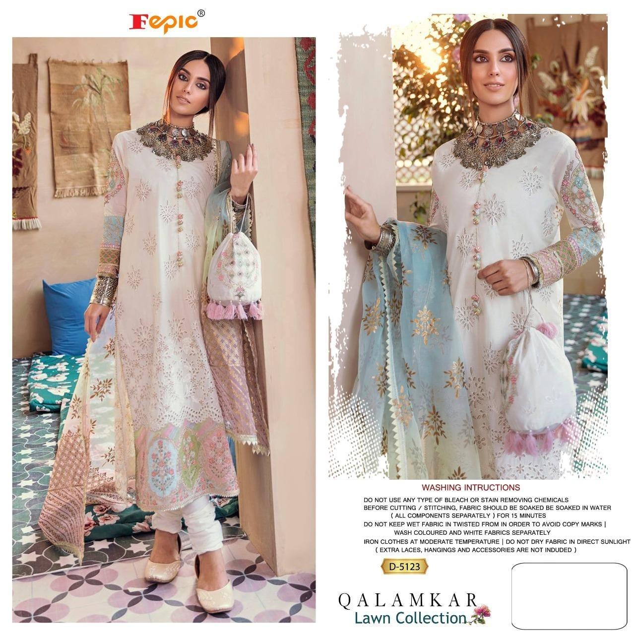 Fepic Rosemeen 5123 Designer Pure Cotton Suit