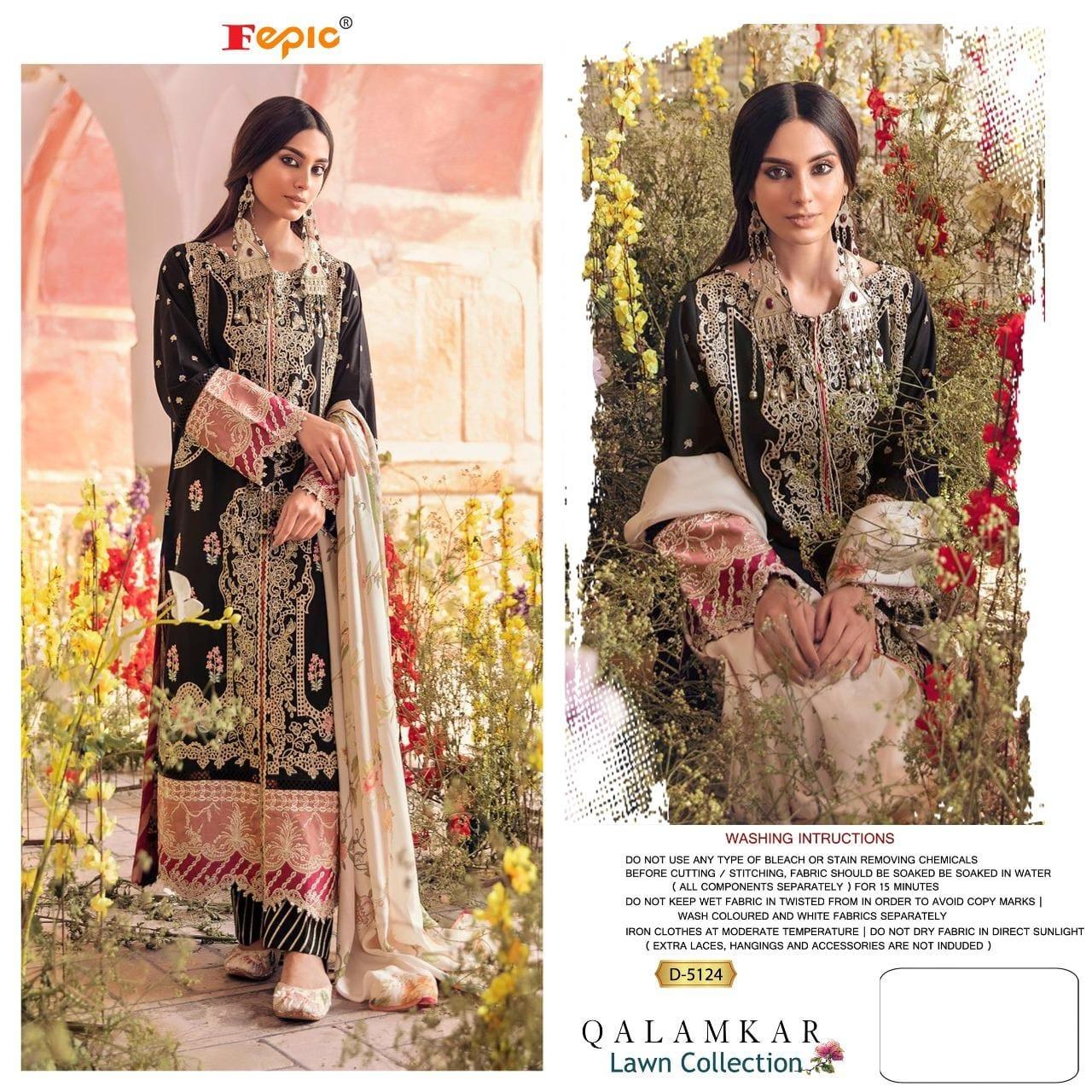 Fepic Rosemeen 5124 Designer Pure Cotton Suit