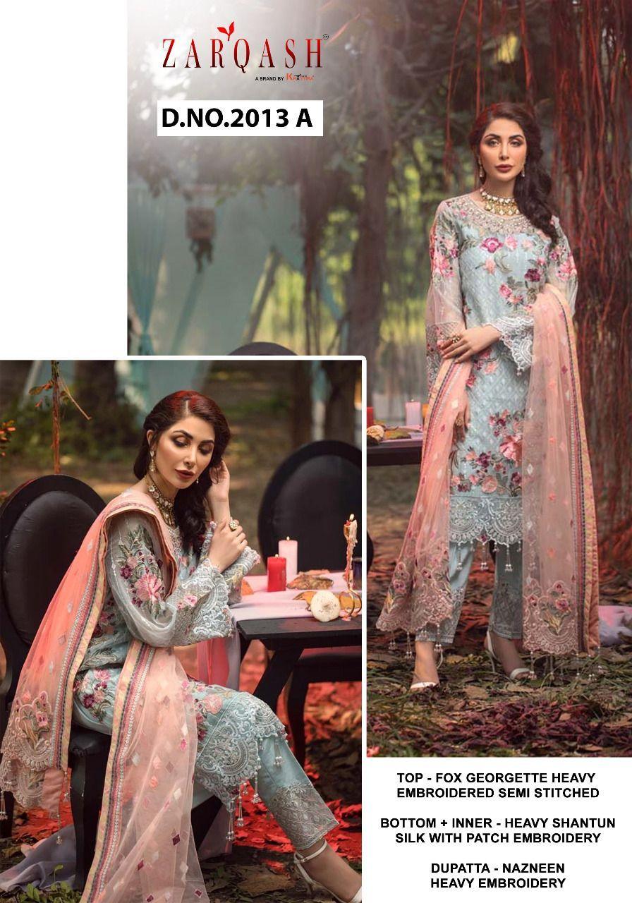 Zarqash Adans Hit Designer Faux Georgette Suit