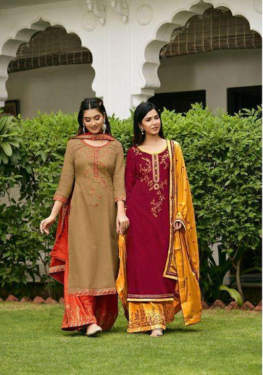 KALASH VOL 6 BY TRIPLE AAA JAM SILK EMBROIDERY SUITS