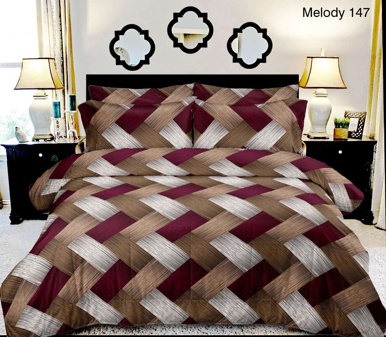 MELODY COTTON DOUBLE BEDSHEETS WITH TWO PILLOW COVER AT BEST RATES
