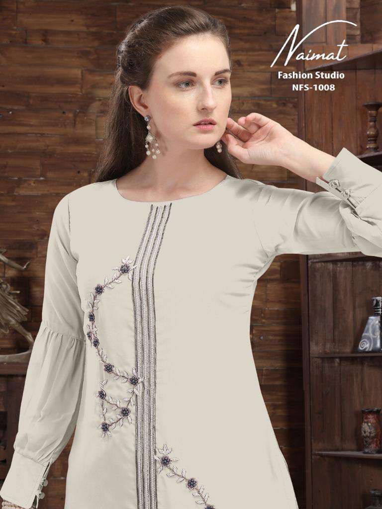 NAIMAT FASHION NFS 1008 TOP HEAVY LACE AND PLATING IN PANTS PAIR COLLECTION