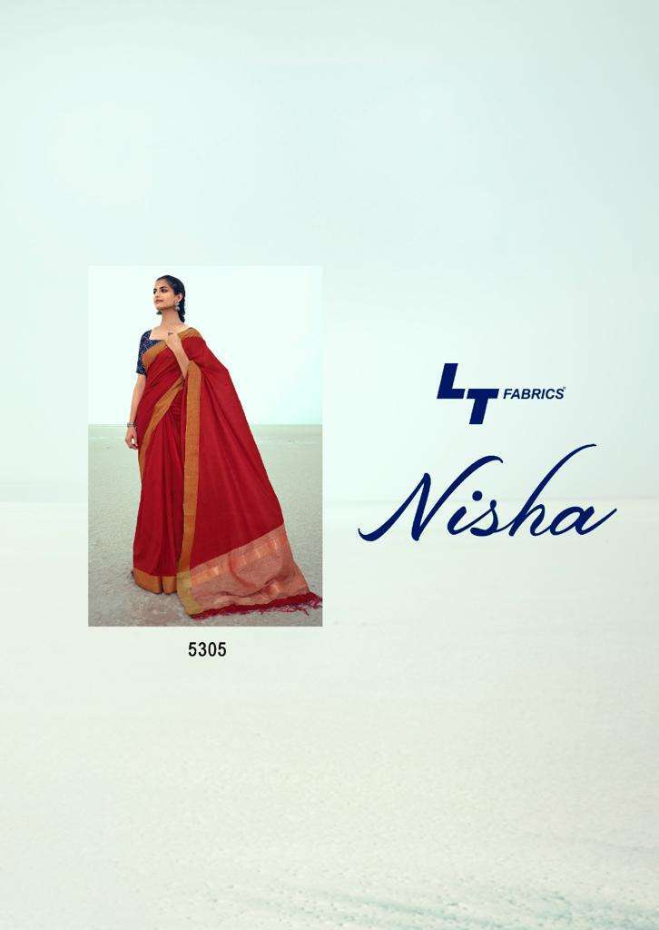 NISHA BY LT FASHION HANDLOOM SILK DESIGNER FANCY SAREE