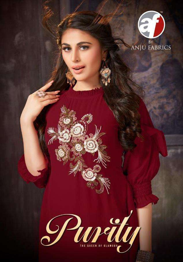 PURITY BY ANJU FAB GEORGETTE KURTI WITH PANT READYMADE COLLECTION