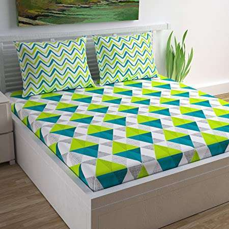 ROCKSTAR QUEEN COTTON BEDSHEETS WITH 2 PILLOW COVER WITH BEST PRICE