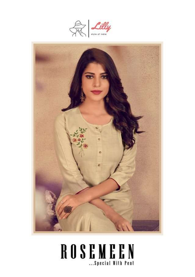 ROSEMEEN BY LILLY RAYON KURTI WITH PANT COLLECTION