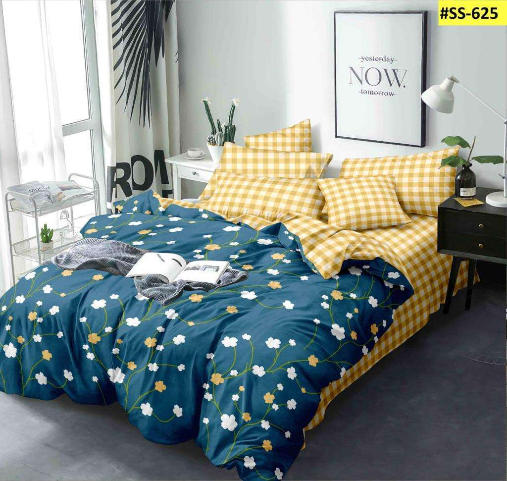 SUPER SOFT DOUBLE BEDSHEETS WITH TWO PILLOW COVER LOWEST COST