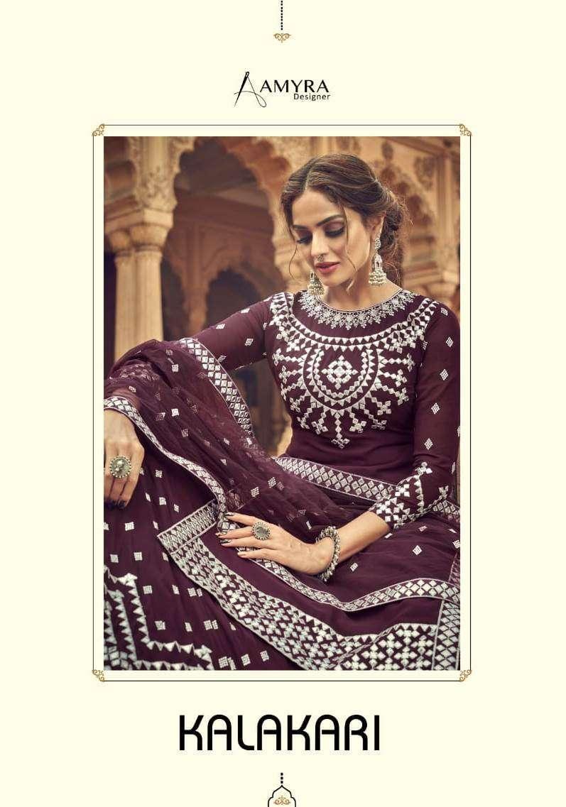amyra designer kalakari series 101-104 Blooming Real Georgette suit