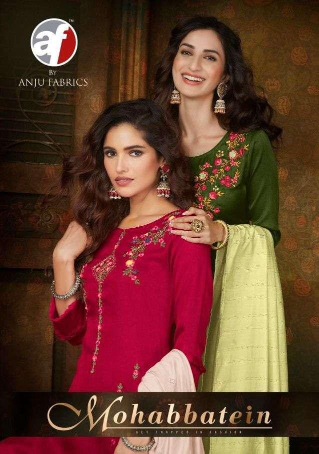 anju fab mohabbatein series 3001-3008 Comfort silk suit