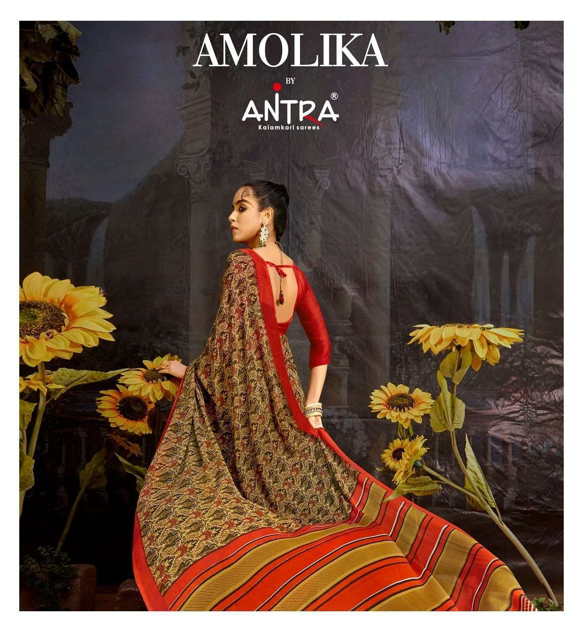antra amolika vol 1 series 75121-75130 weightless printed saree