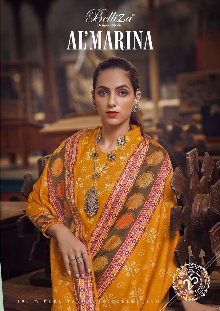 belliza al marina series 566001-566010 Pure Pashmina suit