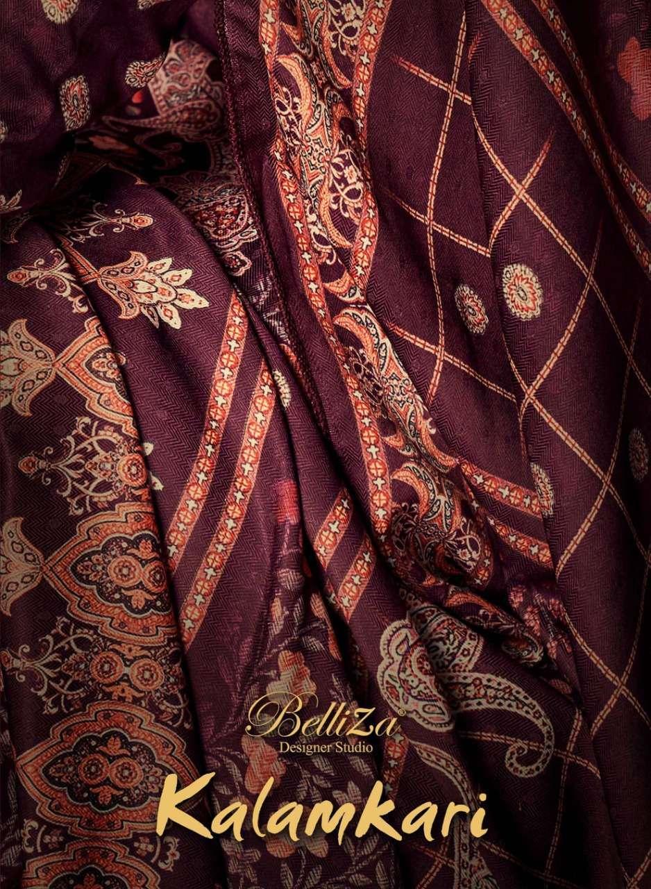 belliza kalamkari series 720001-720008 Pure Pashmina suit