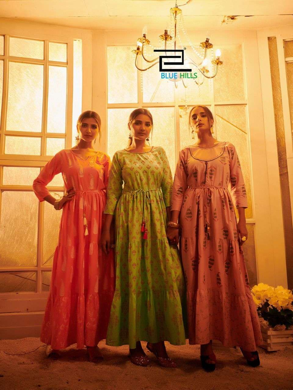 blue hills trend 4 you series 101-106 premium cotton cambric print kurti