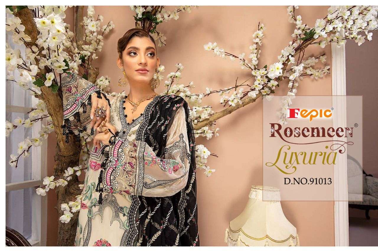 fepic rosemeen luxuria series 91012-91014 faux georgette suit