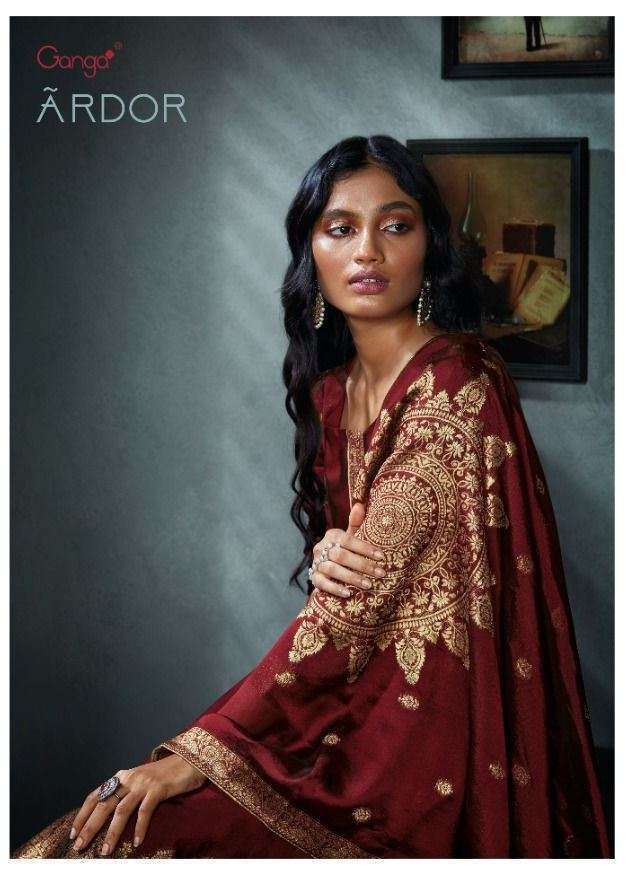 ganga ardor series C0726-C0731 pure bemberg silk jacquard suit