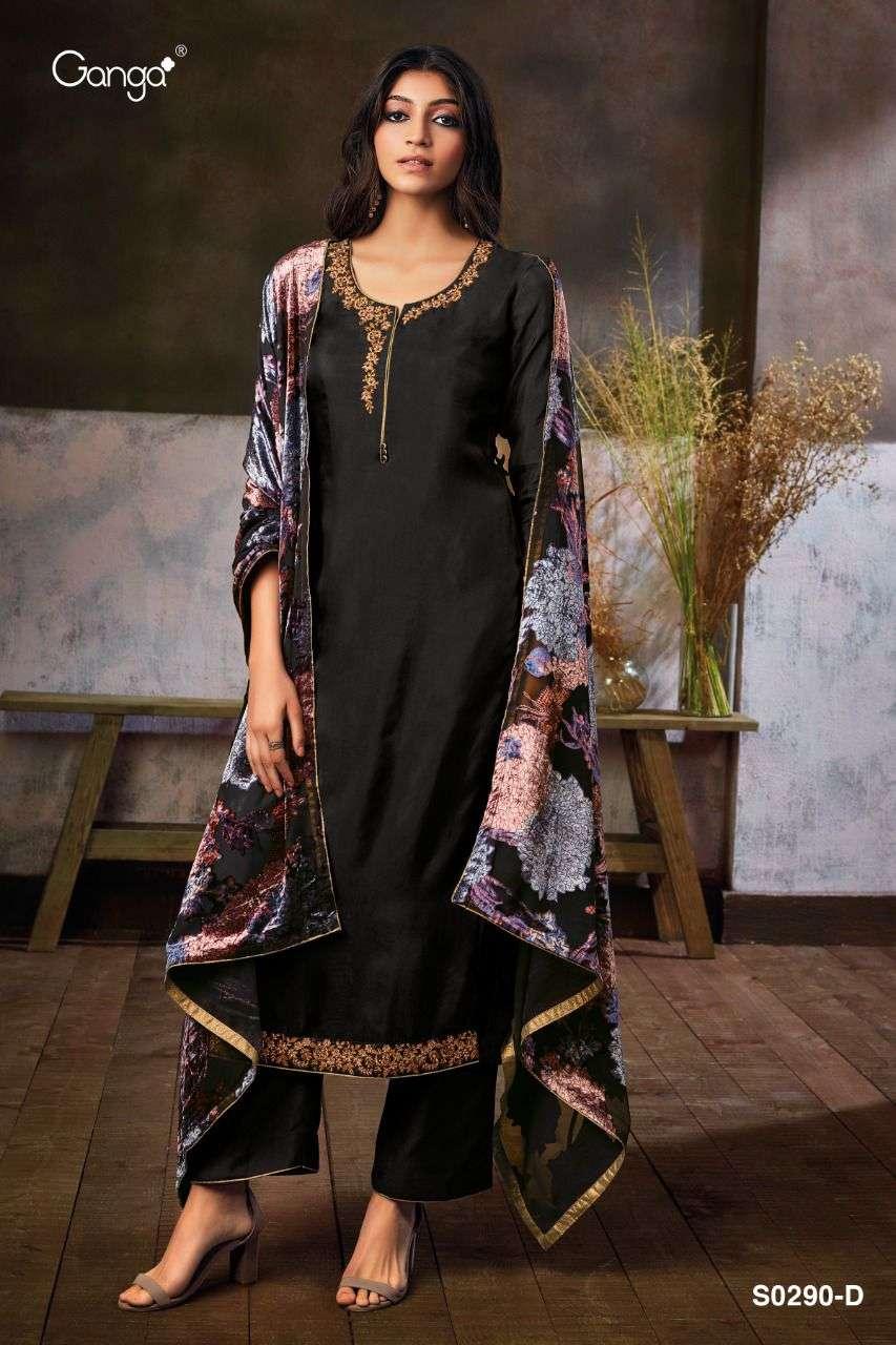 ganga zumkha series so290 four habutai silk suit