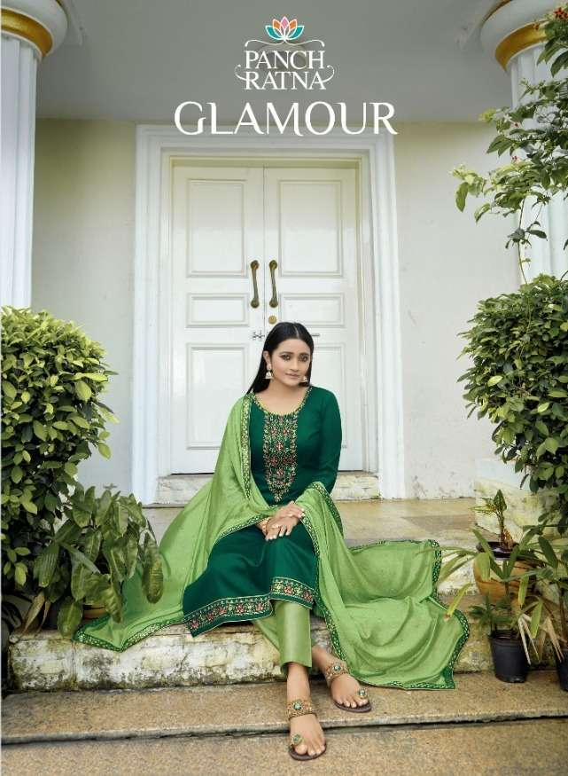 GLAMOUR BY PANCH RATNA JAM SILK DAILY WEAR LADIES DRESS MATERIALS