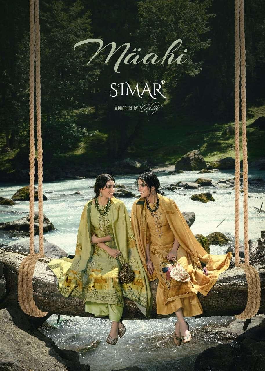 glossy maahi series 1170-1177 Pure Pashmina Digital Print with Embroidrey suit