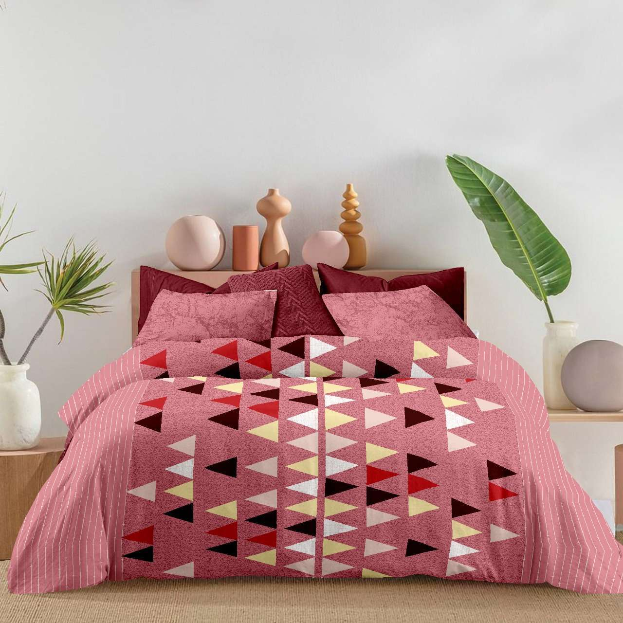k4u present venus new design cotton double bed sheet with two pillow covers set