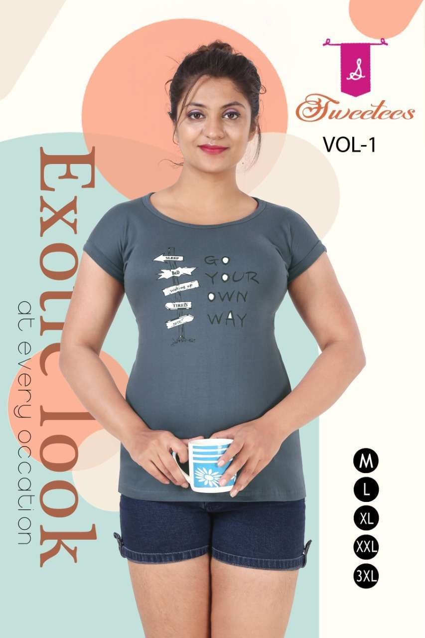 k4u sweetees vol 1 Premium Hosiery Cotton T-Shirt with Roll up sleeves