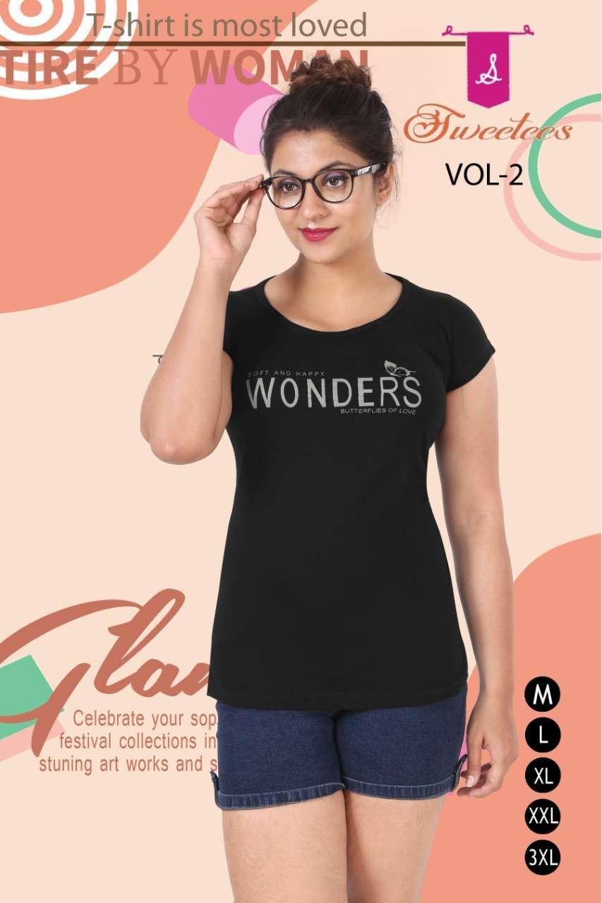 k4u sweetees vol 2 Premium Hosiery Cotton Tshirt with Cap sleeves