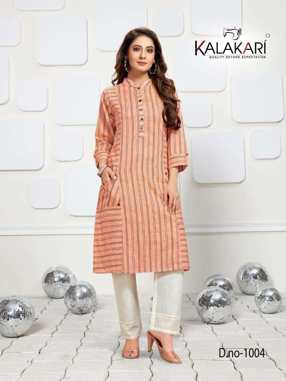 kalakari nx trendz vol 6 series 1001-1004 pure cotton kurti