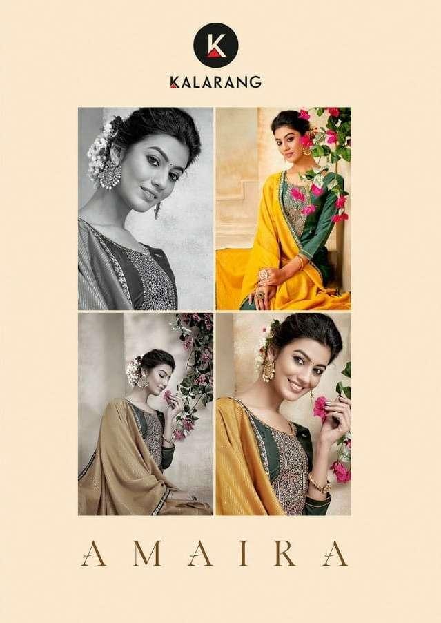 kalarang amaira series 3281-3284 Prampara With All Over Embroidery Work suit