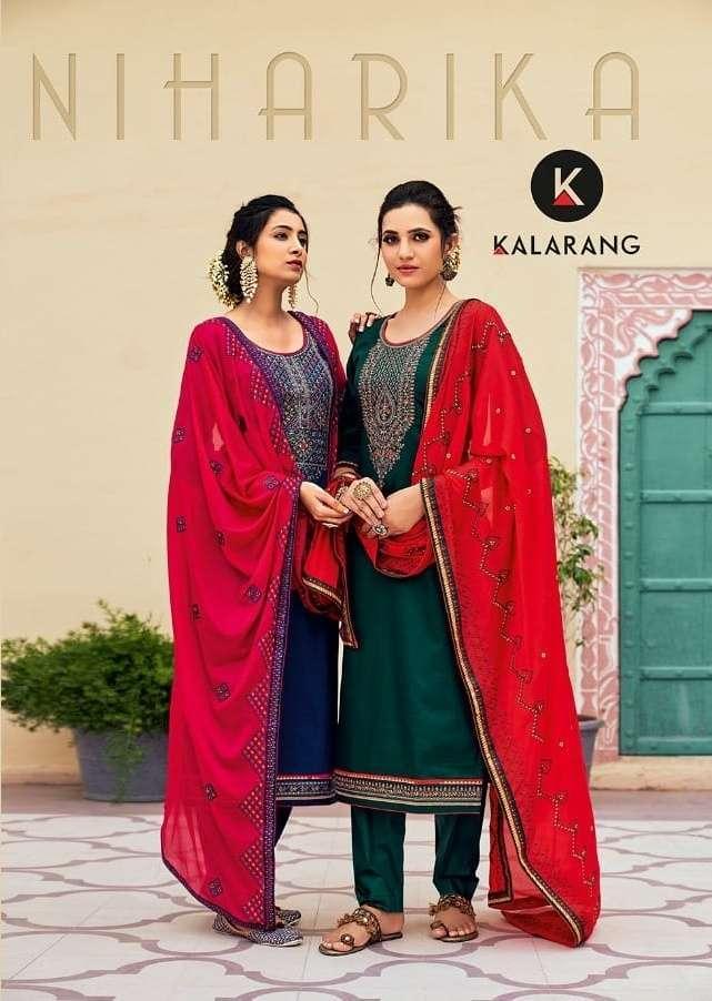 kalarang niharika series 3051-3054 jam silk cotton suit