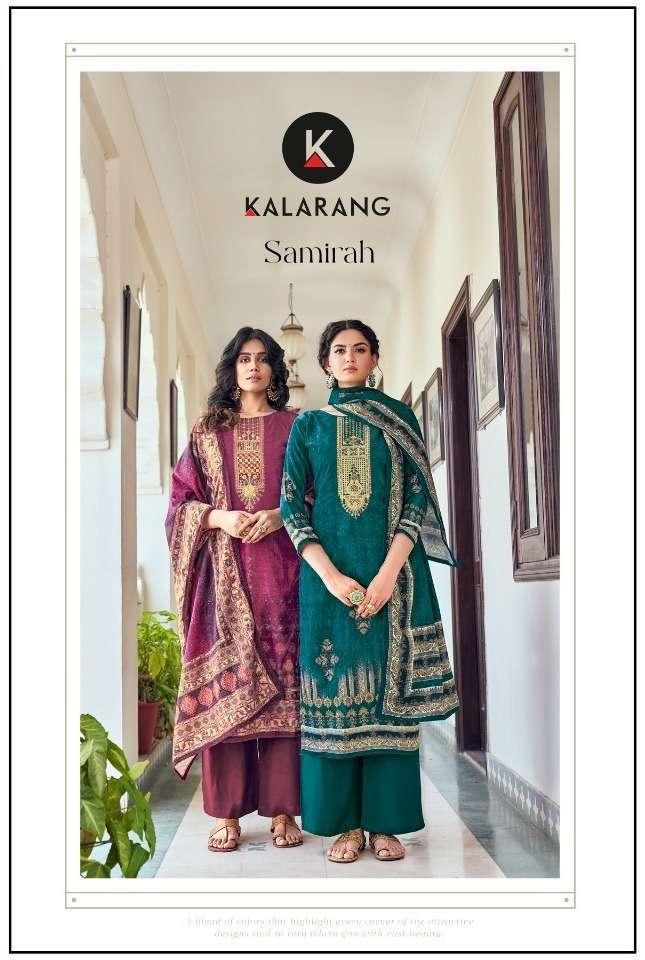 kalarang samirah series 3271-3274 Pure Velvet Digital Print With Work suit