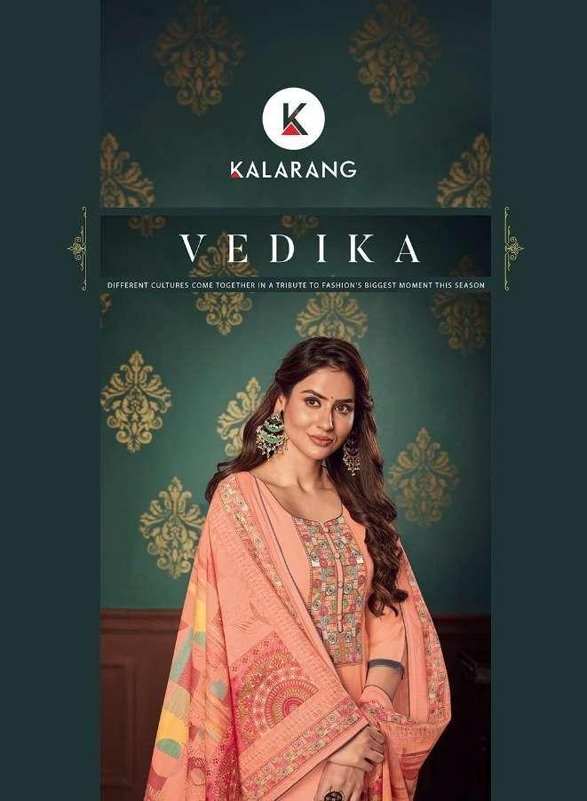 kalarang vedika series 3131-3134 muslin suit with fancy work