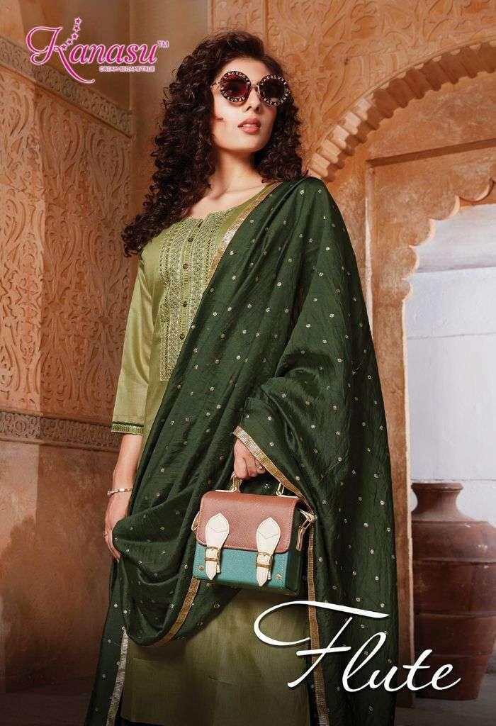 kanasu flute series 4901-4908 dye able silk readymade suit