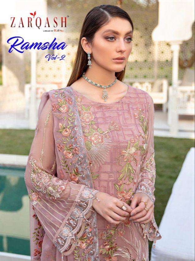 khayyira zarqash ramsha vol 2 series 2018-2021 faux georgette suit