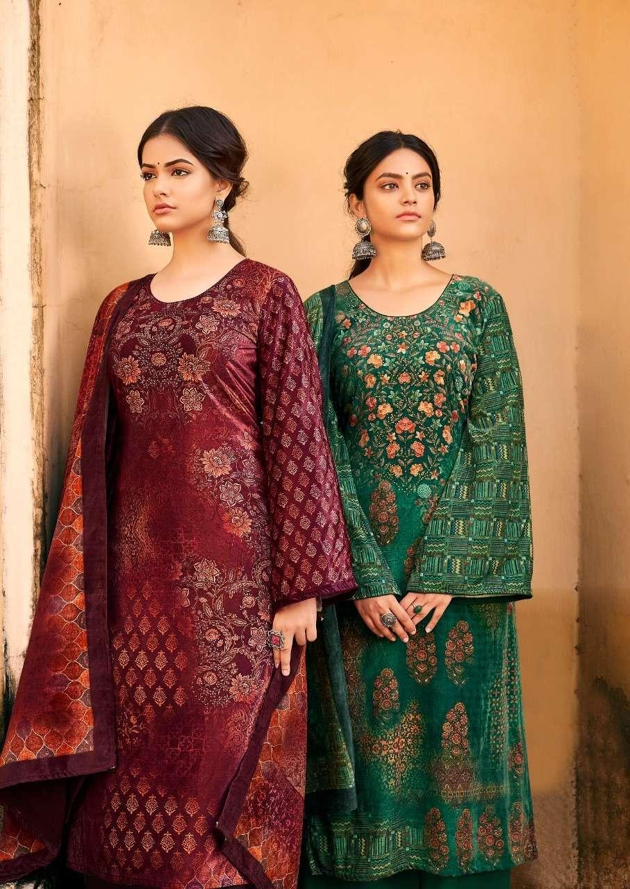 levisha surbhi series 1001-1006 pure 9000 velvet suit