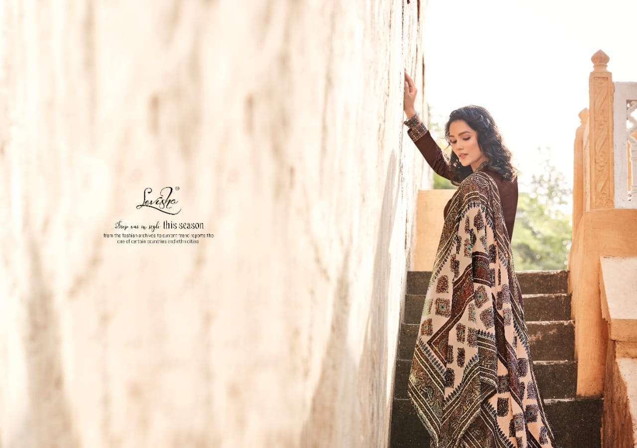 levisha zayra series 1013-1018 pure jam cotton suit