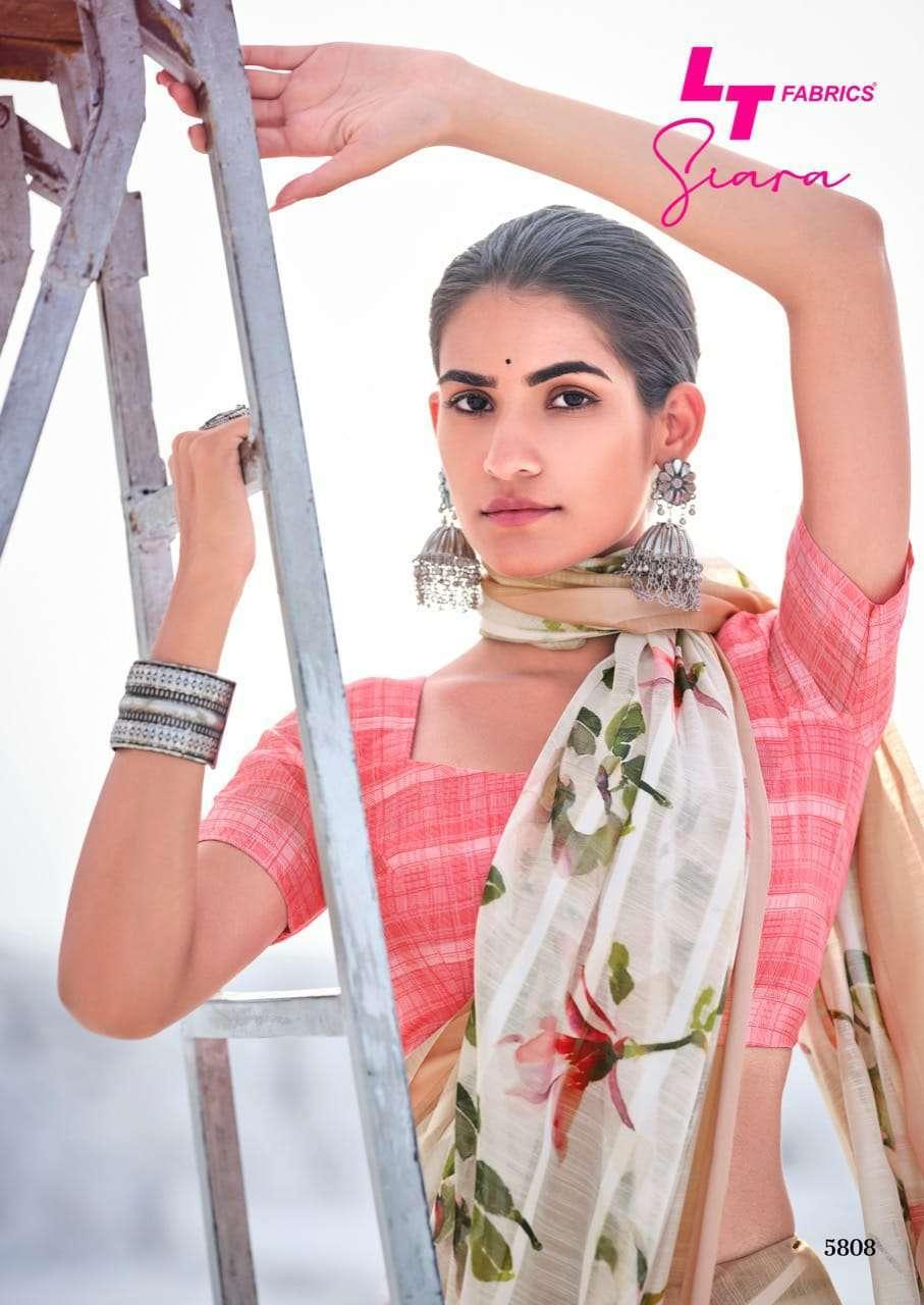 lt fabrics siara series 5801-5810 cotton silk saree