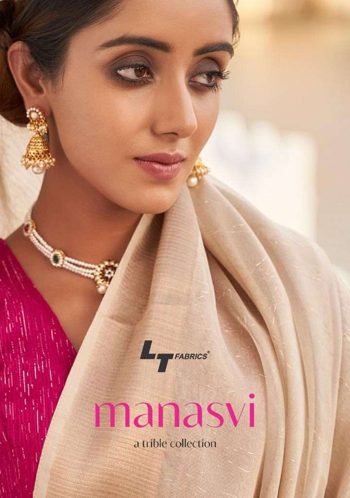 lt fashion manasvi series 14001-14010 double cloth zari saree