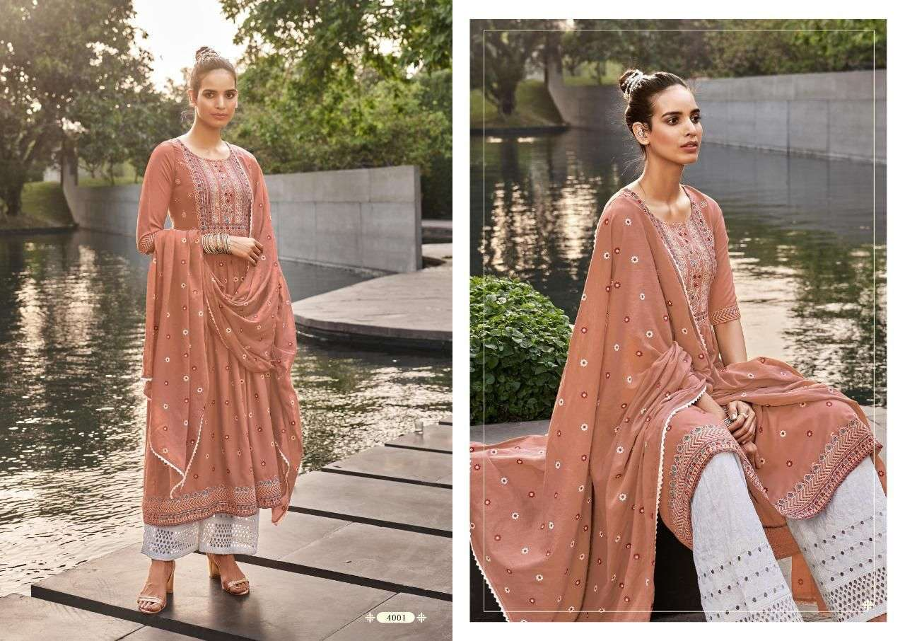 maskeen nazia vol 2 series 4001-4004 heavy rayon readymade suit
