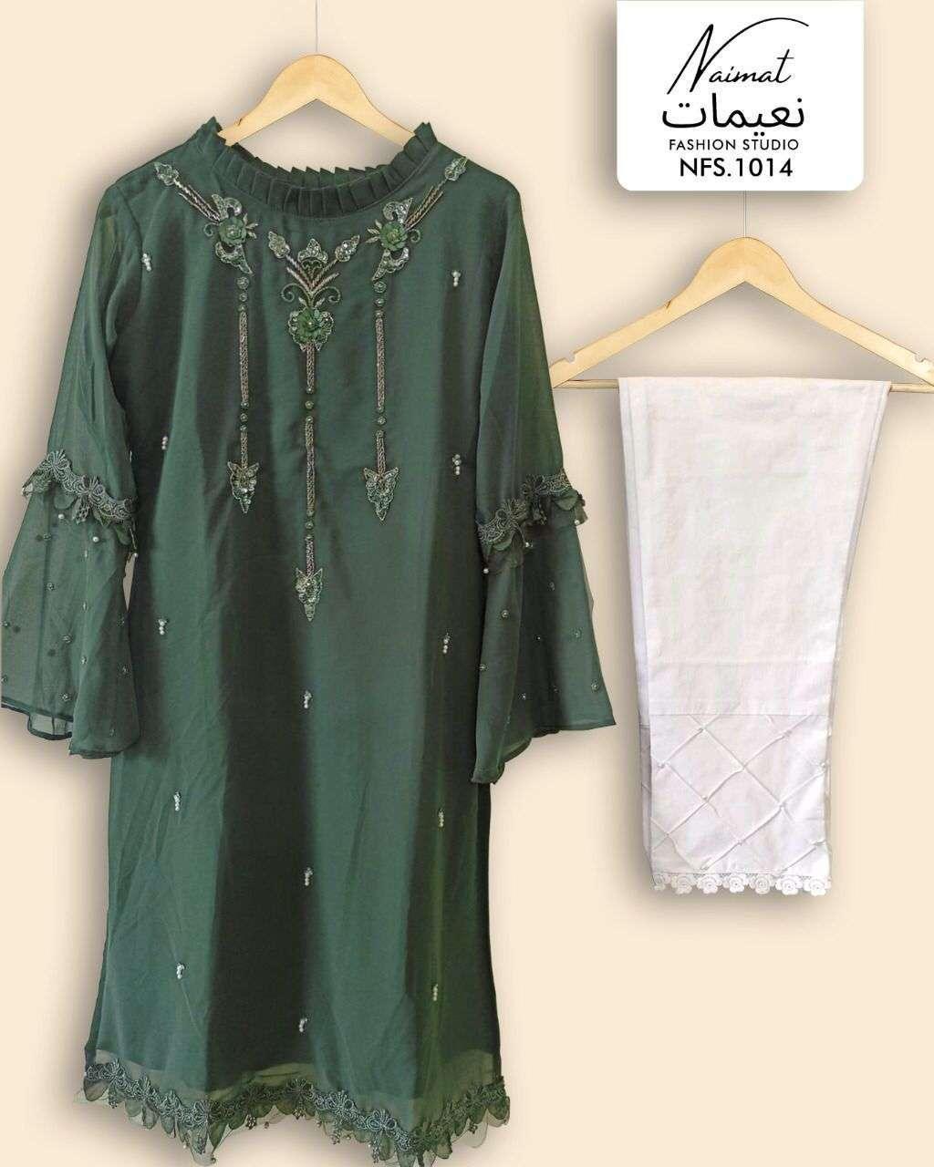 naimat fashion studio nfs-1014 Pure Georgette Handwork kurti