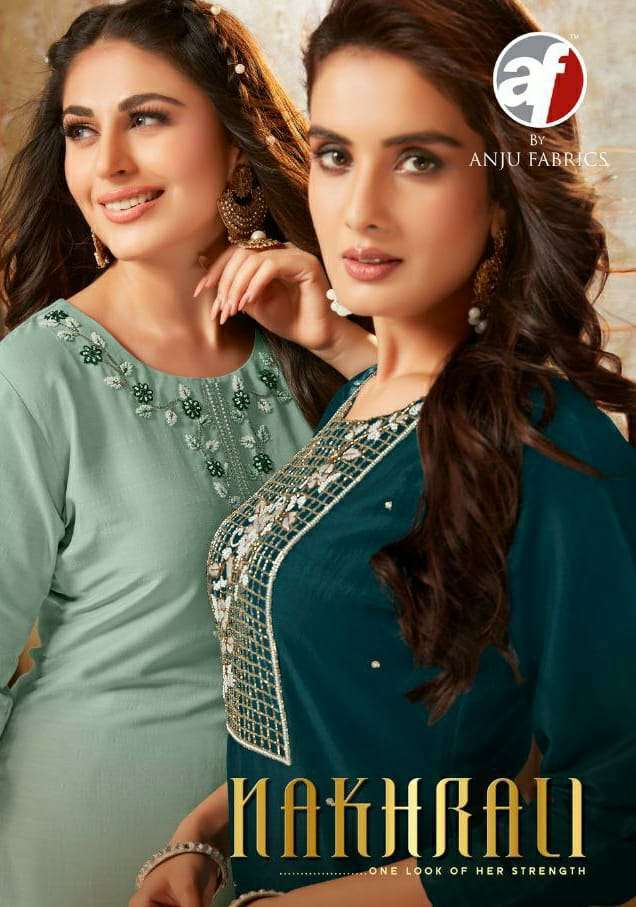 NAKHRALI BY ANJU FAB SILK READYMADE EXCLUSIVE EMBROIDERY SALWAR SUIT