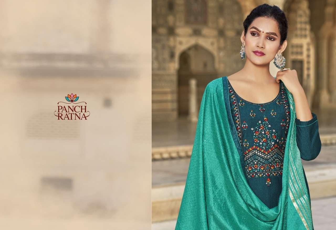 Panch ratna aaradhna series 11421-11425 heavy parampara silk suit