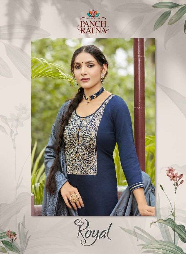 panch ratna royal series 11371-11375  Jam Silk With Bridal Embroidery Work suit