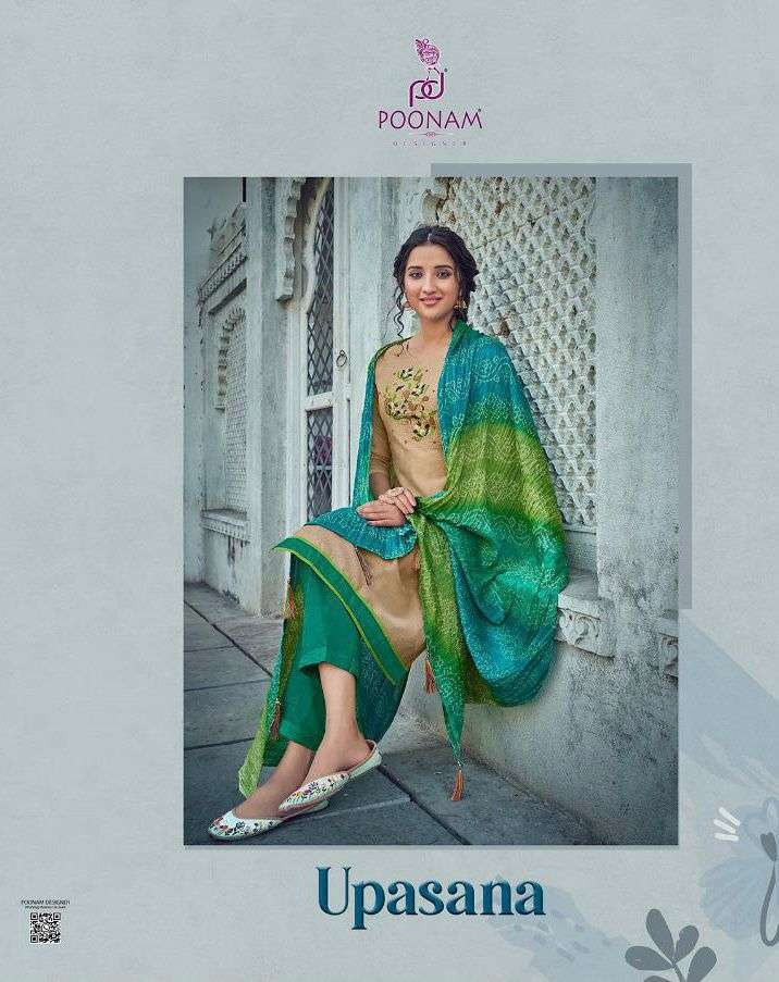 poonam upasana series 301-305 modal chanderi with handwork suit