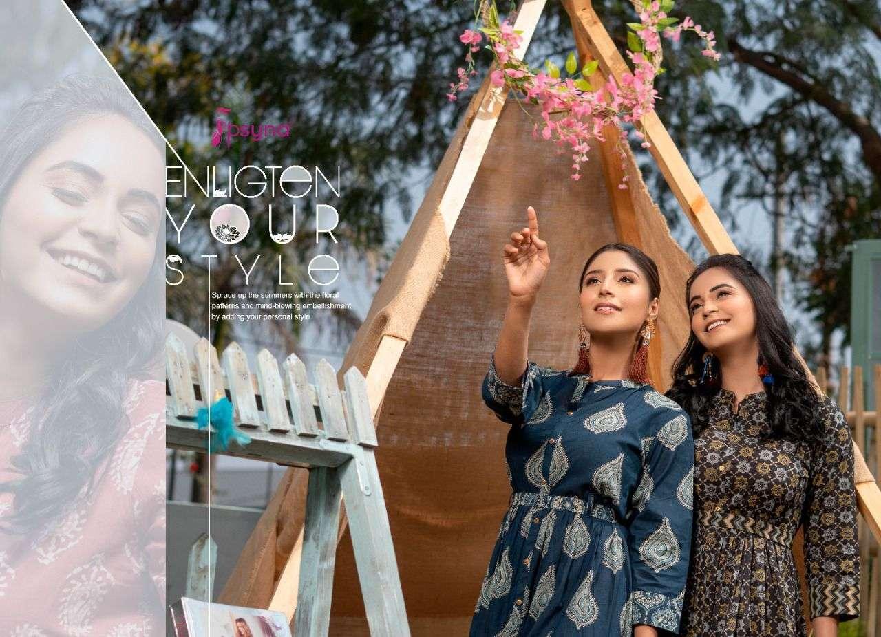 psyna phool vol 5 series 5001-5006 cotton Ajrakh Prints kurti