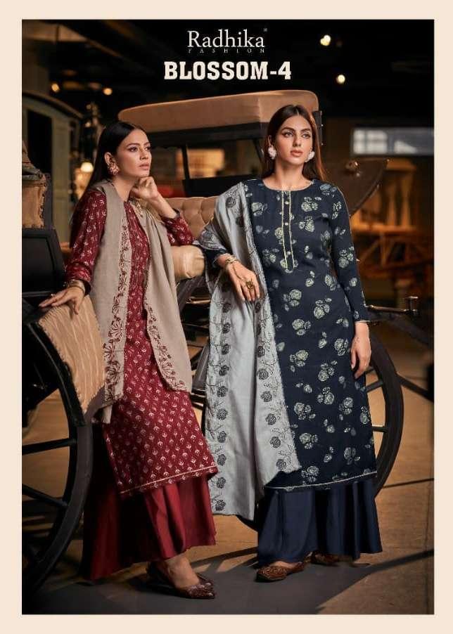 radhika blossom vol 4 series 4001-4006 cotton print suit