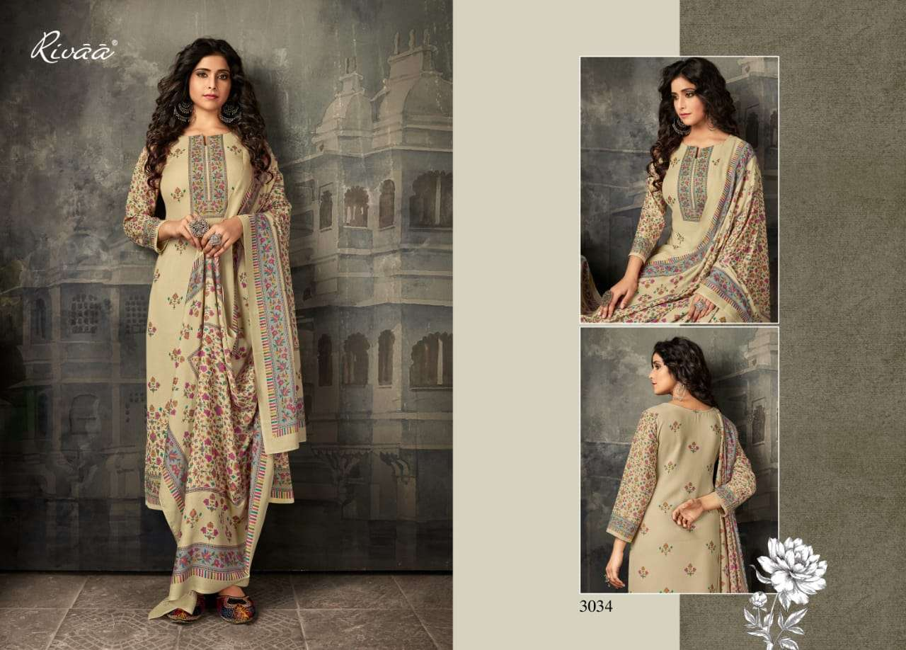 rivaa exports chaand 2 series 3028-3035 heavy pashmina suit