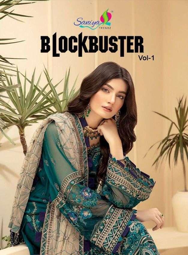 saniya trendz blockbuster vol 1 series 1008-1012 faux georgette suit