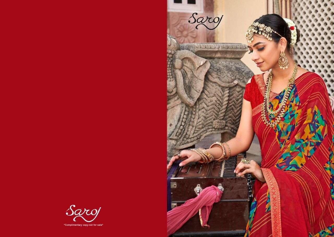 saroj gorgeous vol 4 series 1081-1090 60 gm Soft Georgette saree