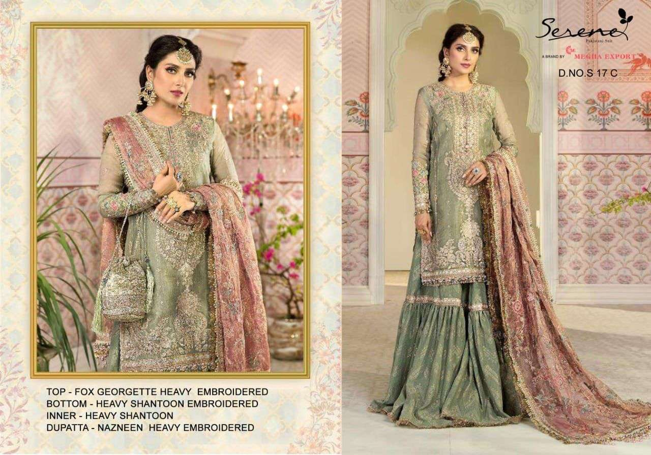 SERENE S-17 DESIGNER FAUX HEAVY EMBROIDERED SUIT