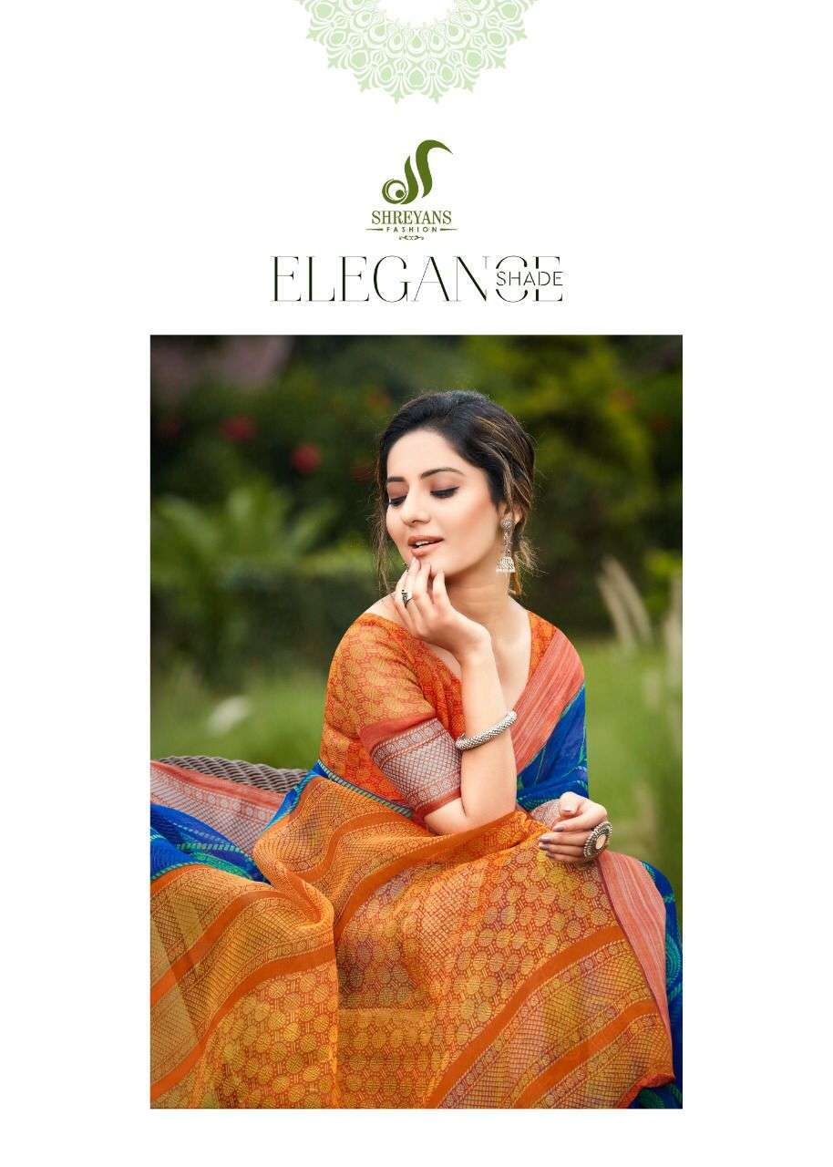 shreyans fashion malhar pattu series 01-12 organza khadi silk saree